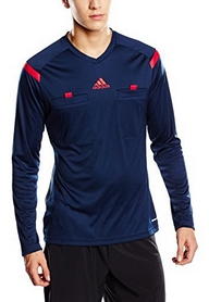 Фото 3 к товару Футболка арбитра с длинным рукавом Adidas REF 14 JSY LS синяя