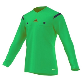 Футболка арбитра с длинным рукавом Adidas REF 14 JSY LS зеленая
