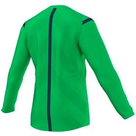 Фото 2 к товару Футболка арбитра с длинным рукавом Adidas REF 14 JSY LS зеленая