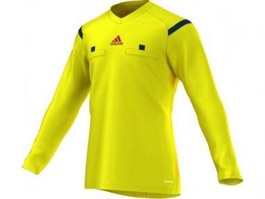 Футболка арбитра с длинным рукавом Adidas REF 14 JSY LS желтая