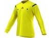 Футболка арбитра с длинным рукавом Adidas REF 14 JSY LS желтая - фото 1