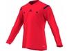 Футболка арбитра с длинным рукавом Adidas REF 14 JSY LS красная - фото 1