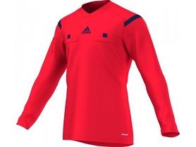 Футболка арбитра с длинным рукавом Adidas REF 14 JSY LS красная