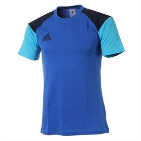 Фото 1 к товару  Футболка Adidas CON16 TEE синяя