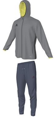 Костюм спортивный детский Adidas Condivo 16 Pre Suity серый