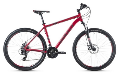 Велосипед горный Spelli SX-2500 29ER 2016 красно-серебристый матовый - 21