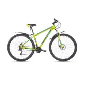 """Велосипед горный Intenzo Premier 29"""" зелено-голубой матовый рама 17"""""""