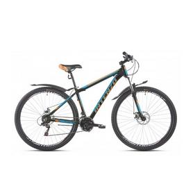 """Велосипед горный Intenzo Premier 29"""" черно-оранжевый с голубым рама 17"""""""