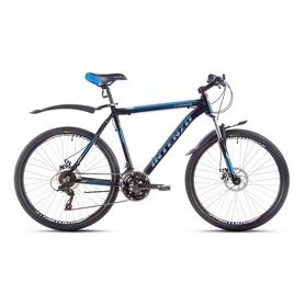 """Велосипед горный Intenzo Flagman 26"""" черно-голубой матовый рама 21"""""""