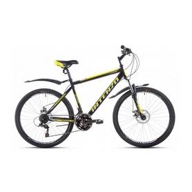 """Велосипед горный Intenzo Legion 26"""" черно-желтый матовый рама 21"""""""