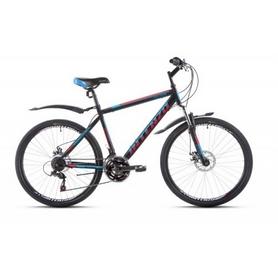 """Велосипед горный Intenzo Saturn 26"""" черно-красный с голубым рама 19"""""""