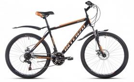 """Велосипед горный Intenzo Saturn 26"""" черно-оранжевый рама 19"""""""