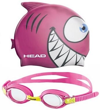 Набор для плавания Head Meteor Character (очки + шапочка) розовый