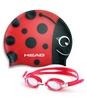 Набор для плавания Head Meteor Character (очки + шапочка) красный - фото 1