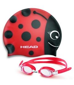 Набор для плавания Head Meteor Character (очки + шапочка) красный