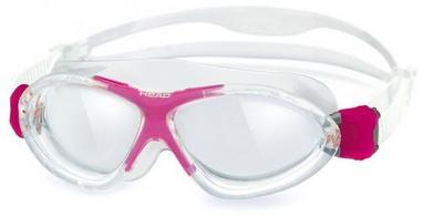 Очки для плавания со стандартным покрытием Head Monster Junior+ прозрачно-розовые