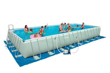 Бассейн каркасный Intex Ultra Frame 54988/28376 (975х488х132 см) с фильтрующим насосом и хлоратором
