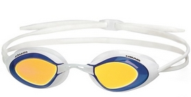 Фото 1 к товару Очки для плавания с зеркальным покрытием Head Stealth LSR+ бело-синие