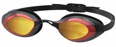 Очки для плавания с зеркальным покрытием Head Stealth LSR+ черно-красные