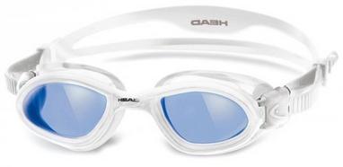 Очки для плавания со стандартным покрытием Head SuperFlex+ сине-белые