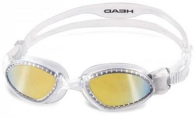 Очки для плавания с зеркальным покрытием Head SuperFlex Mid прозрачно-дымчатые
