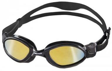 Очки для плавания с зеркальным покрытием Head SuperFlex Mid черно-дымчатые
