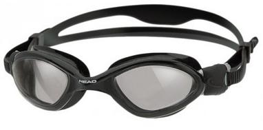 Очки для плавания Head Tiger LSR+ черно-дымчатые
