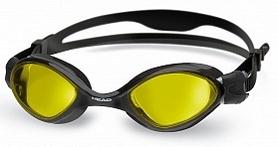 Очки для плавания Head Tiger LSR+ черно-желтые