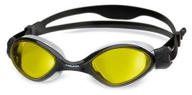Очки для плавания со стандартным покрытием Head Tiger LSR+ черно-желтые