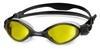 Очки для плавания со стандартным покрытием Head Tiger LSR+ черно-желтые - фото 1