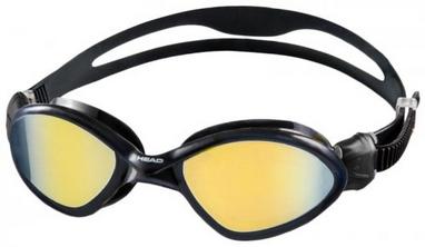 Очки для плавания с зеркальным покрытием Head Tiger Mid черно-дымчатые