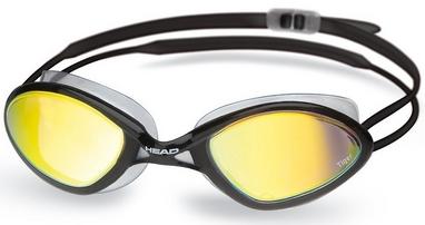 Очки для плавания с зеркальным покрытием Head Tiger Mid Race LSR+ черно-дымчатые