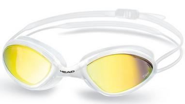 Очки для плавания с зеркальным покрытием Head Tiger Mid Race LSR+ бело-дымчатые
