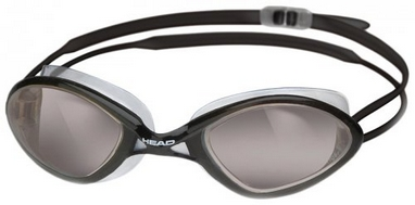 Очки для плавания Head Tiger Race LSR+ черно-дымчатые