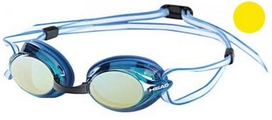 Очки для плавания с зеркальным покрытием Head Venom желтые
