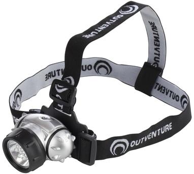 Фонарь налобный Outventure 20 lumens OIE71102 серебряный