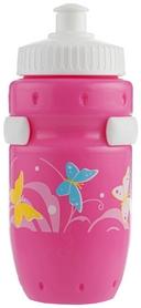 Фляга велосипедная детская с держателем Cyclotech Water bottle with holder CBS-1P pink