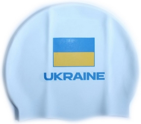 Шапочка для плавания Head Cap Flat Ukrainian Federation белая