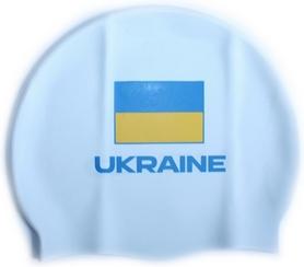 Фото 1 к товару Шапочка для плавания Head Cap Flat Ukrainian Federation белая
