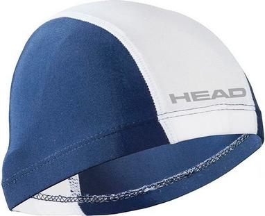 Шапочка для плавания Head Spandex Lycra JR Cap бело-синяя