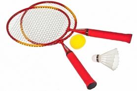 Фото 1 к товару Набор для бадминтона (2 ракетки, волан, мяч, чехол) Torneo Mini badminton TRN-6T