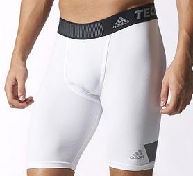 Фото 2 к товару Шорты компрессионные Adidas TF Cool ST 9 белые
