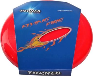 Тарелка летающая фрисби Torneo 25 см красная