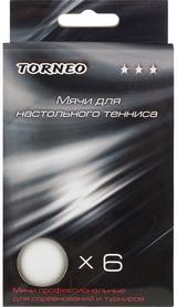 Набор мячей для настольного тенниса Torneo 3-Star TI-BWT2000 (6 шт)