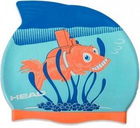 Шапочка для плавания детская Head Meteor Capсине-оранжевая