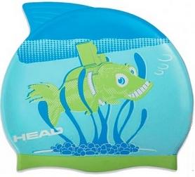 Шапочка для плавания детская Head Meteor Capсине-салатовая