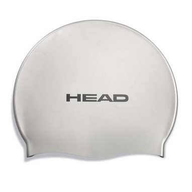 Шапочка для плавания Head Silicone Flat single color pearl silver