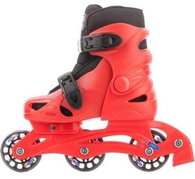 Фото 2 к товару Коньки роликовые + шлем и защита Reaction красный/черный