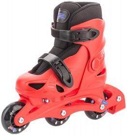 Фото 3 к товару Коньки роликовые + шлем и защита Reaction красный/черный