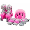 Коньки роликовые + шлем и защита Reaction розовый - фото 1